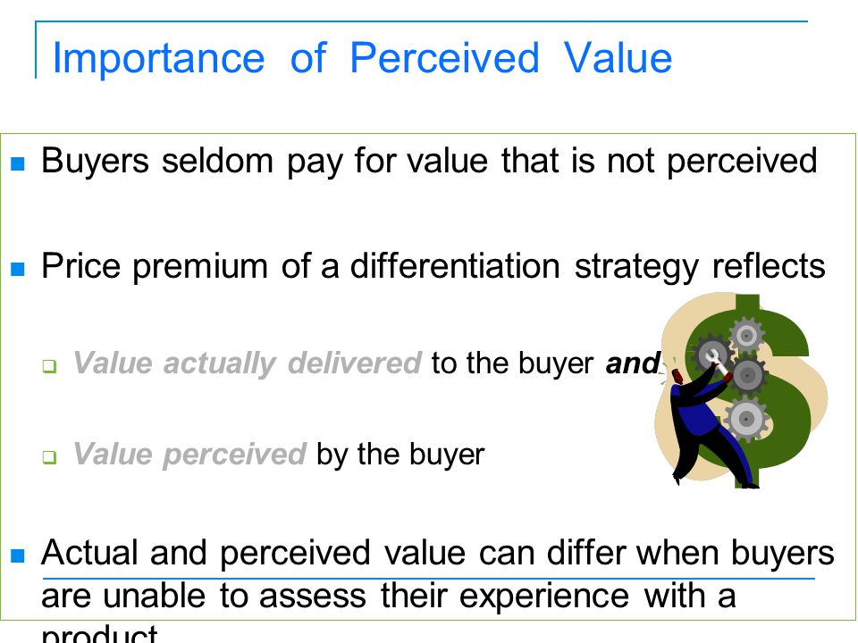 Difference Between Perceived Value & Real Value
