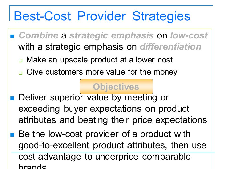 Best-Cost Provider Strategies
