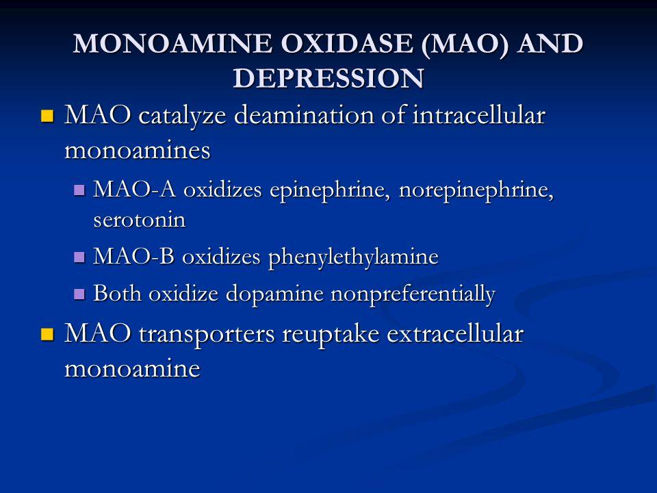 MONOAMINE OXIDASE (MAO) AND DEPRESSION