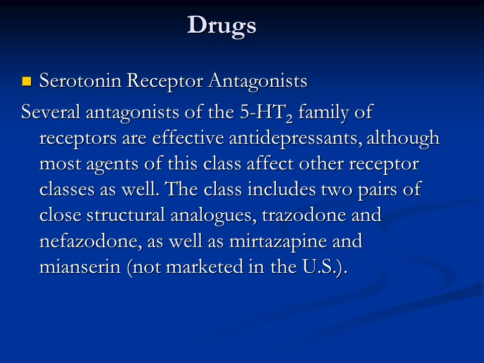 Drugs Serotonin Receptor Antagonists