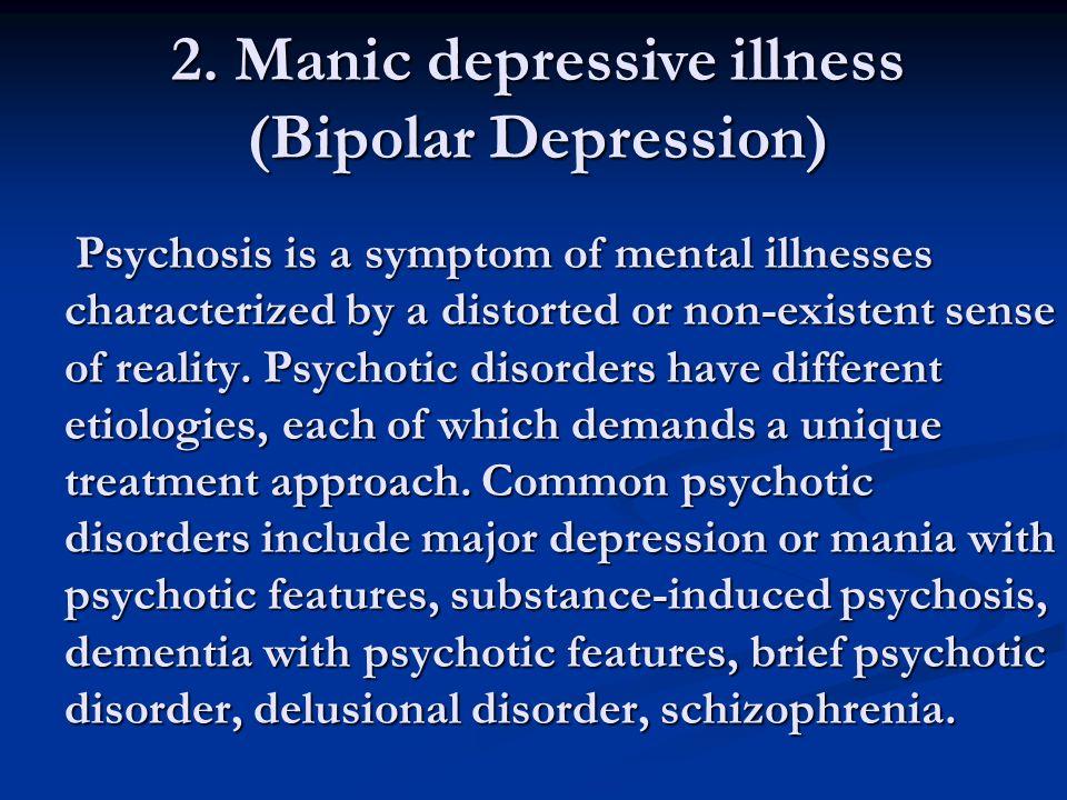 2. Manic depressive illness