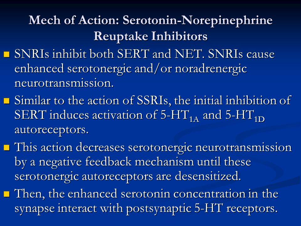 Mech of Action: Serotonin-Norepinephrine Reuptake Inhibitors