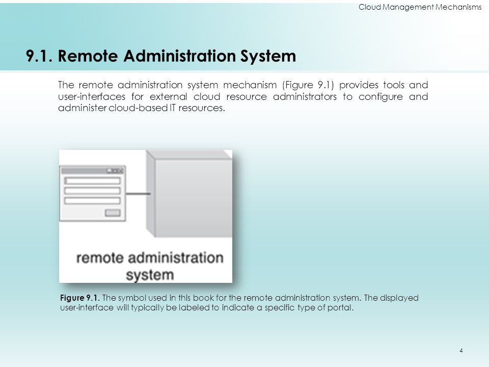 9.1. Remote Administration System