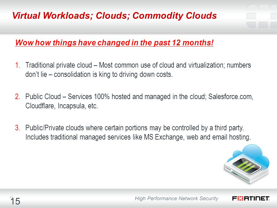 Virtual Workloads; Clouds; Commodity Clouds