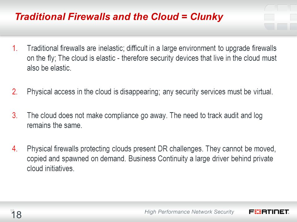 Traditional Firewalls and the Cloud = Clunky