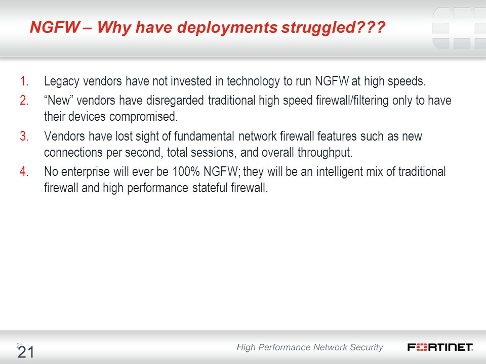 NGFW – Why have deployments struggled