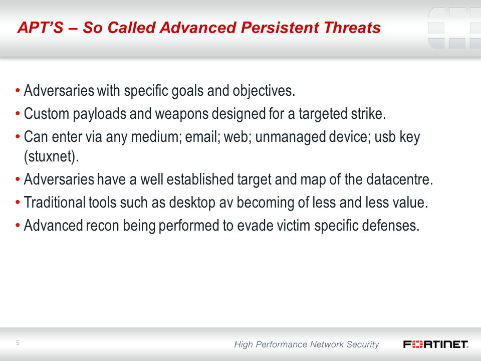 APT'S – So Called Advanced Persistent Threats