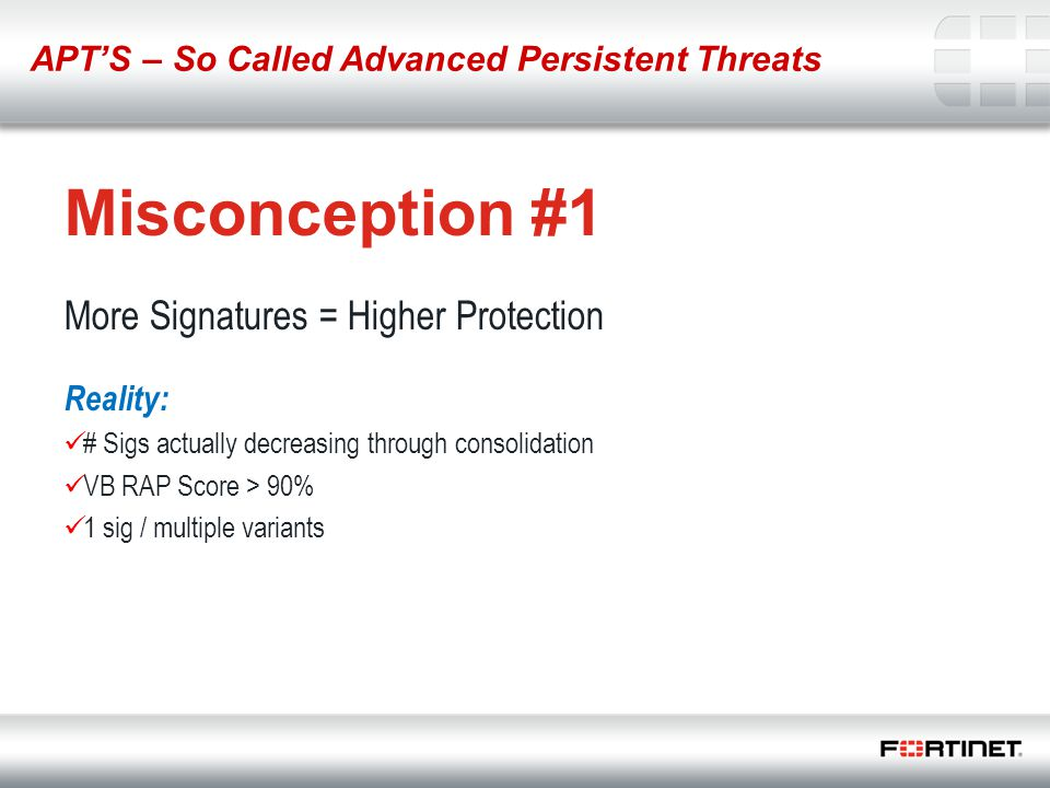 Misconception #1 More Signatures = Higher Protection