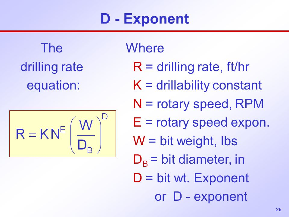 The drilling rate equation: