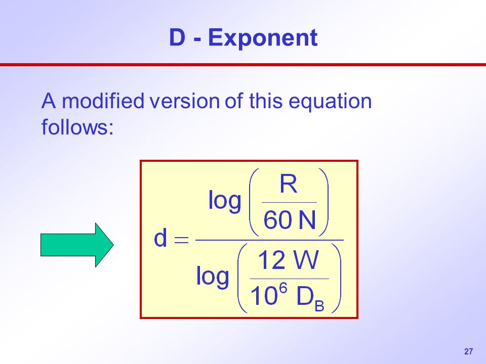 A modified version of this equation follows: