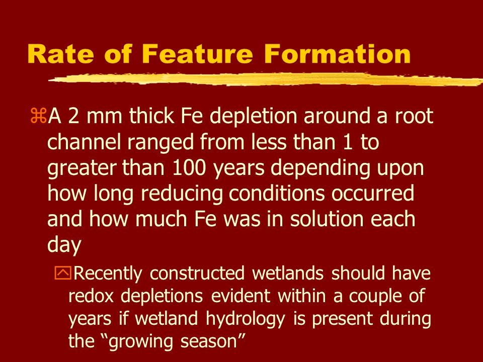 Rate of Feature Formation