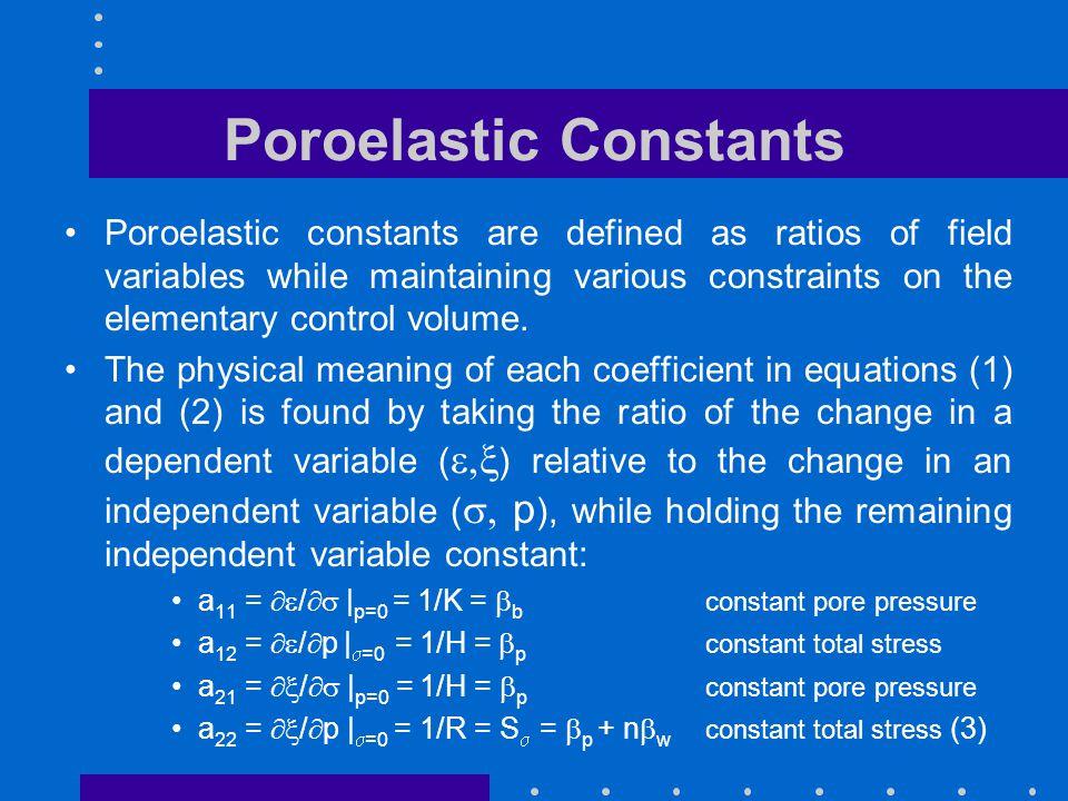 Poroelastic Constants