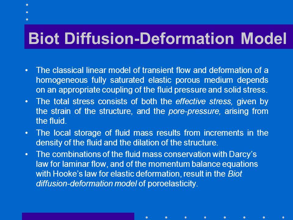 Biot Diffusion-Deformation Model