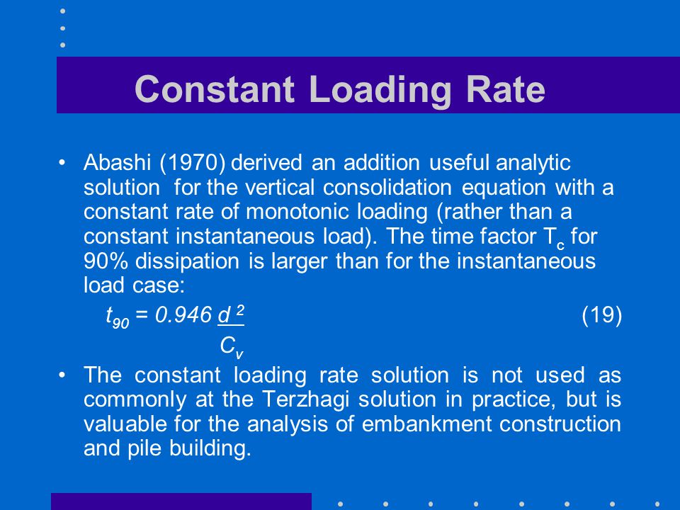 Constant Loading Rate
