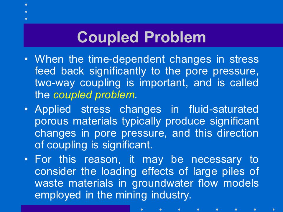 Coupled Problem