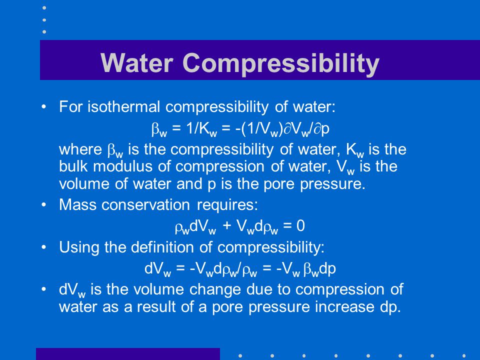 Water Compressibility