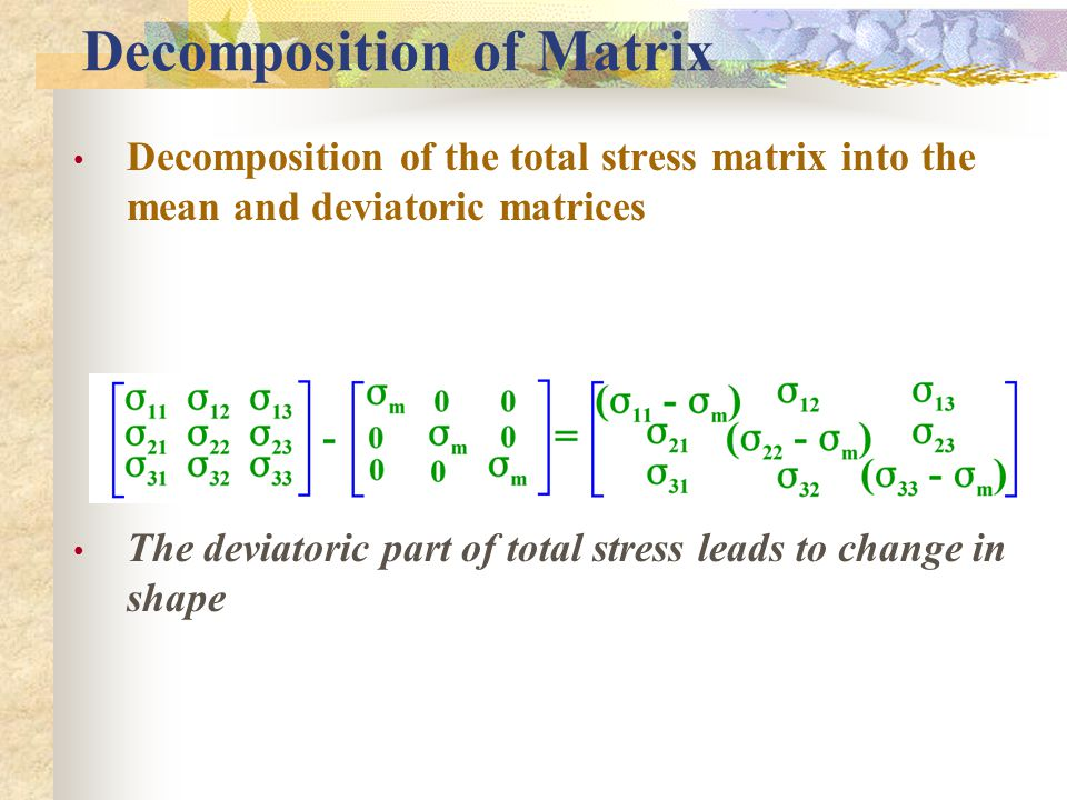 Decomposition of Matrix
