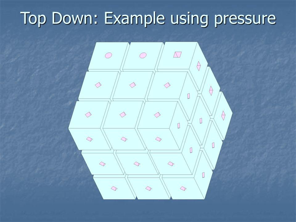 Top Down: Example using pressure