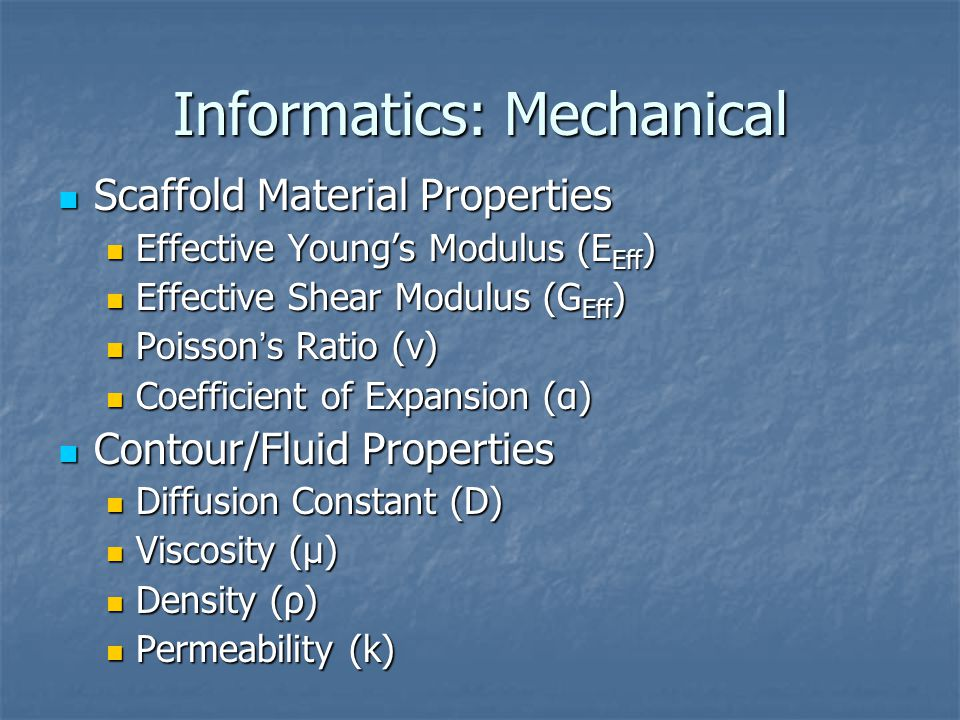 Informatics: Mechanical