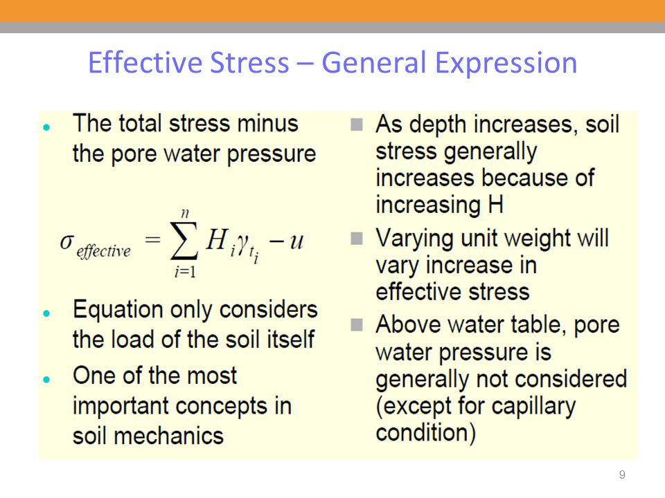 Effective Stress – General Expression