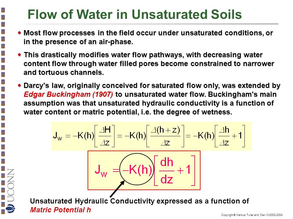 Flow of Water in Unsaturated Soils