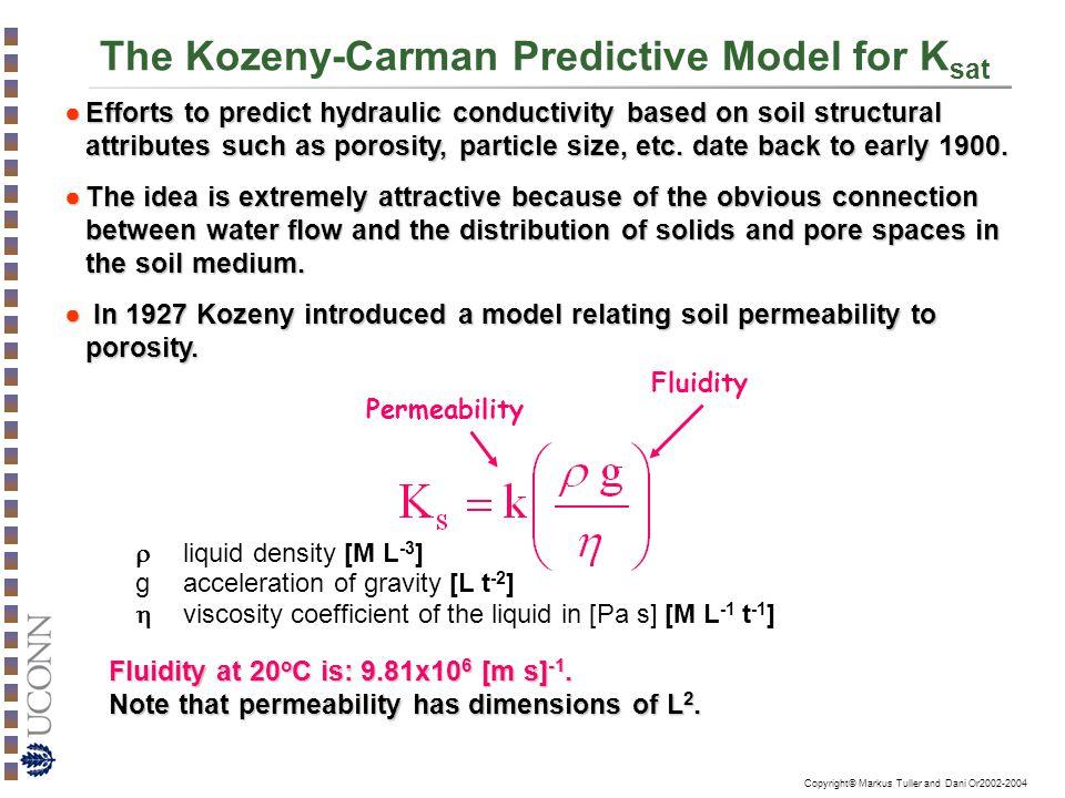 The Kozeny-Carman Predictive Model for Ksat