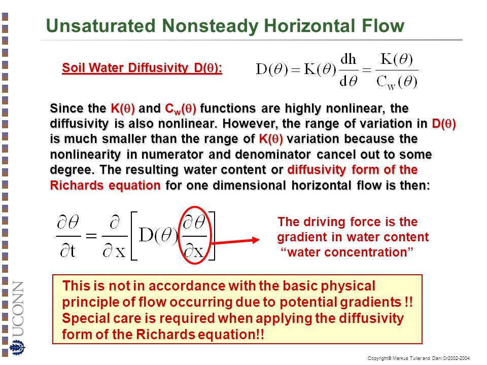 Unsaturated Nonsteady Horizontal Flow