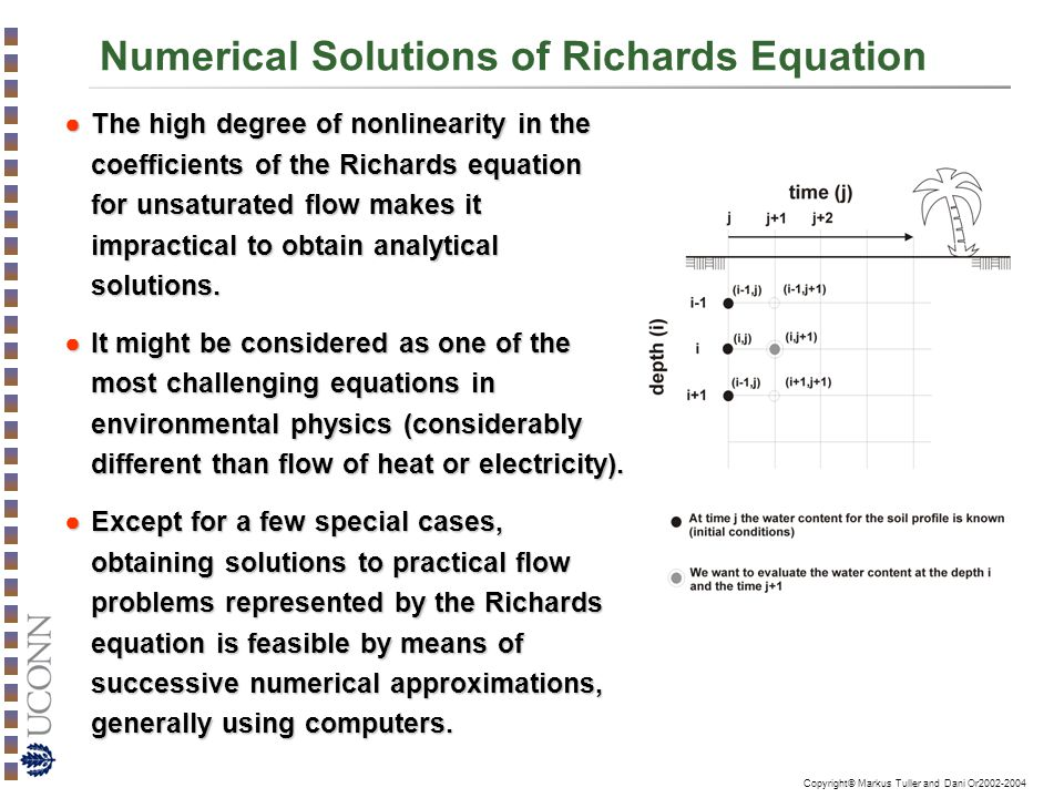 Numerical Solutions of Richards Equation