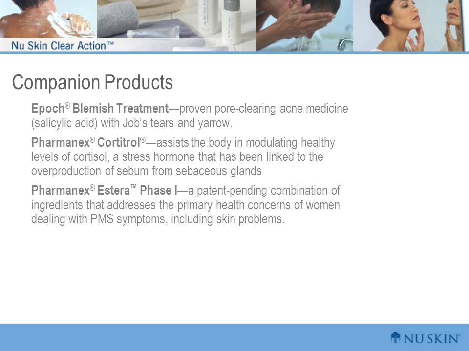Companion Products Epoch® Blemish Treatment—proven pore-clearing acne medicine (salicylic acid) with Job's tears and yarrow.