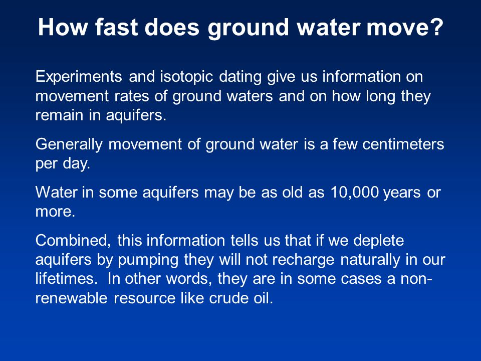 How fast does ground water move