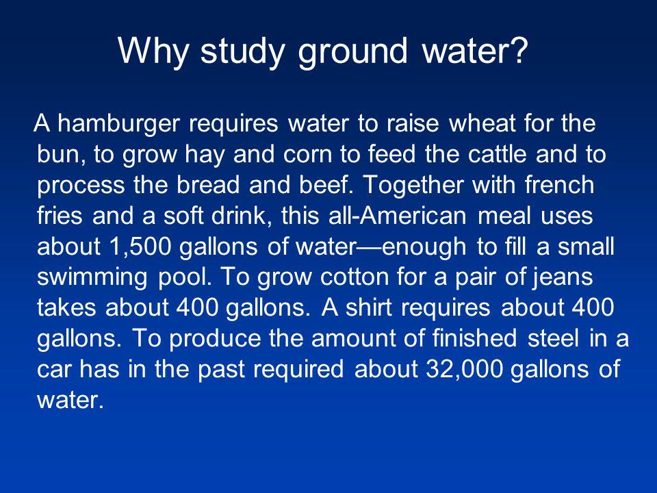 Why study ground water