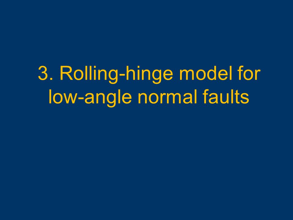 3. Rolling-hinge model for low-angle normal faults