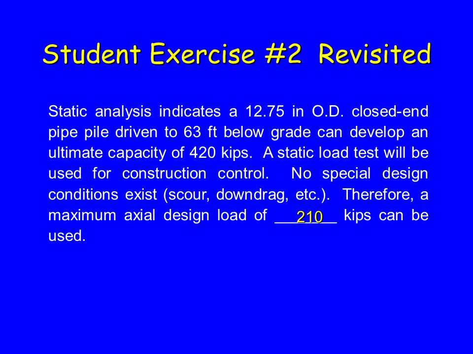 Student Exercise #2 Revisited