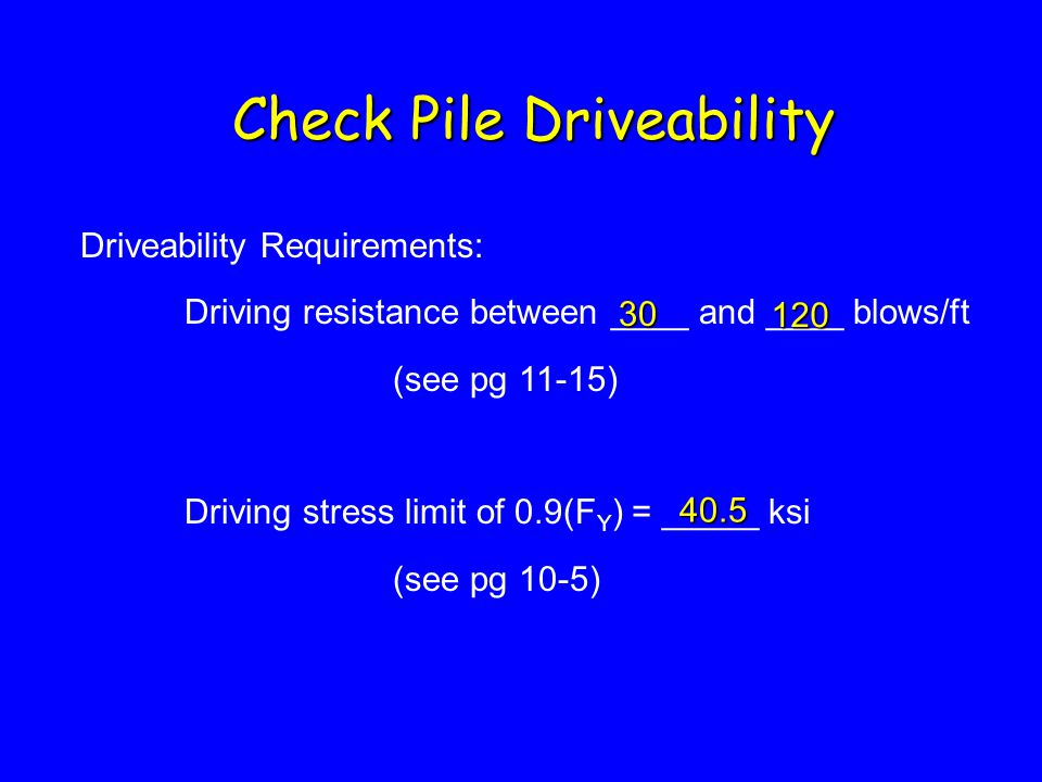 Check Pile Driveability
