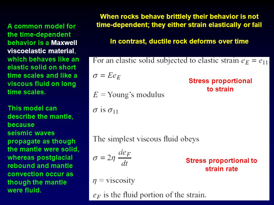In contrast, ductile rock deforms over time