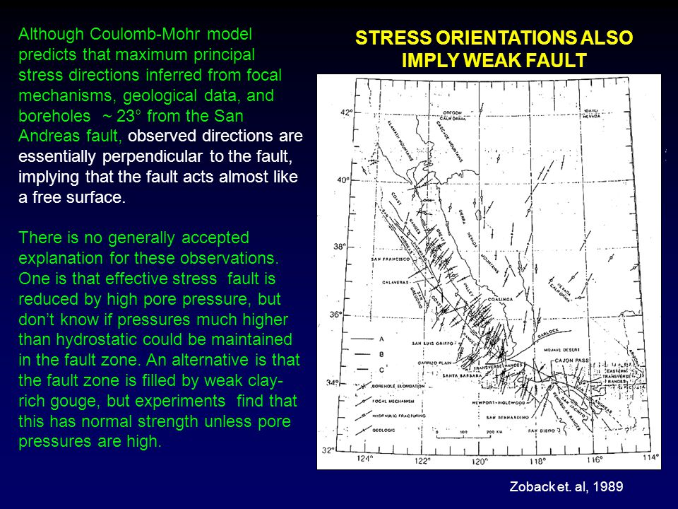 STRESS ORIENTATIONS ALSO IMPLY WEAK FAULT