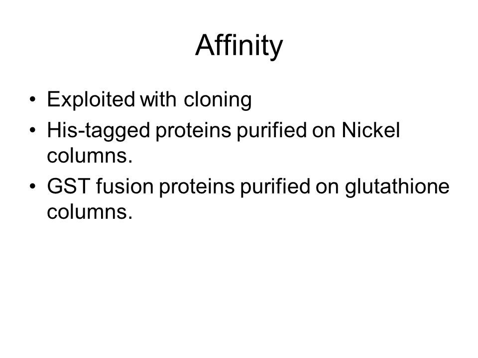 Affinity Exploited with cloning