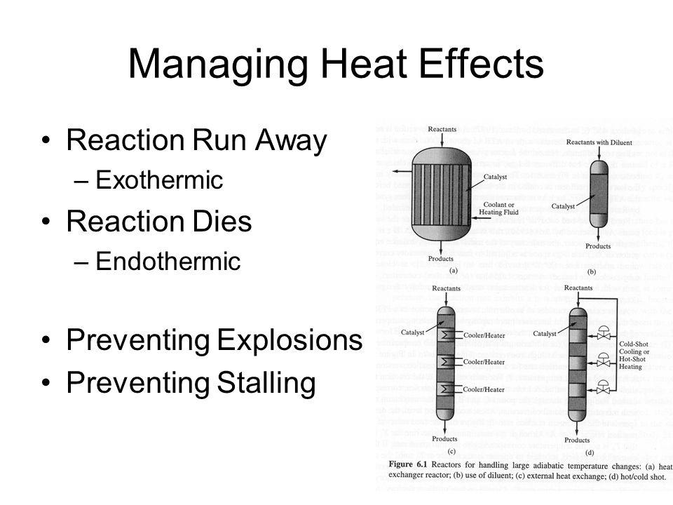 Managing Heat Effects Reaction Run Away Reaction Dies