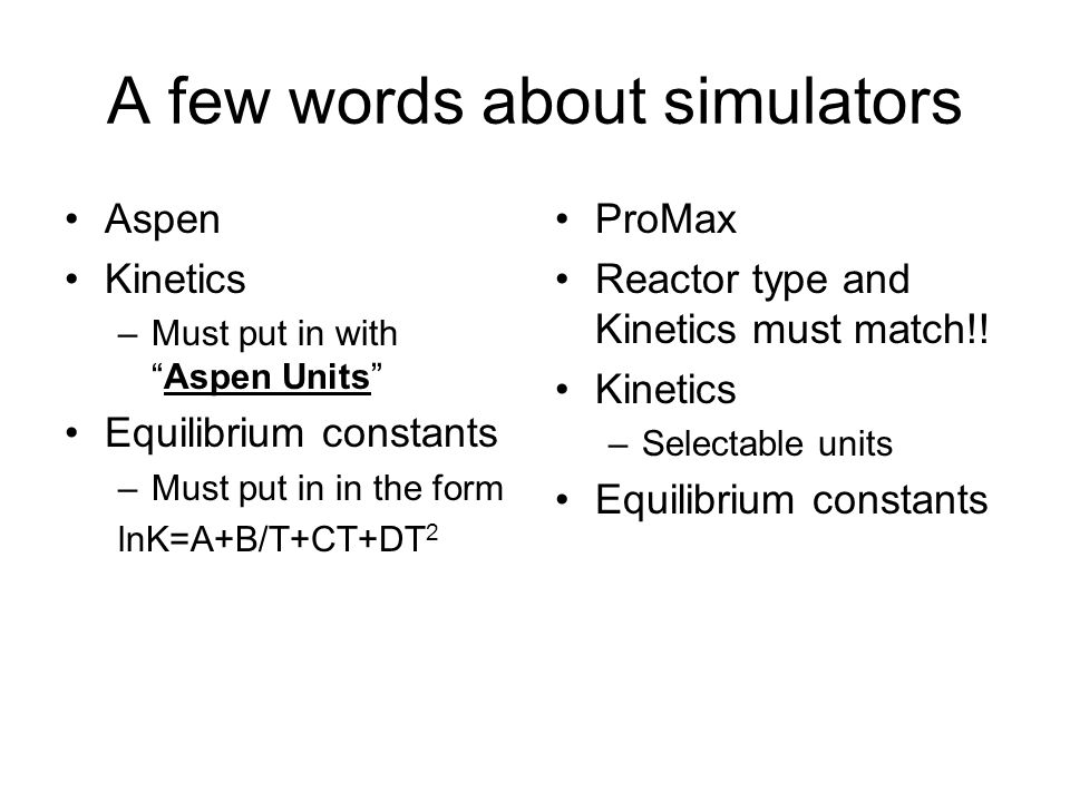 A few words about simulators
