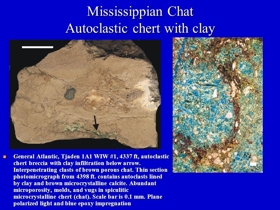 Mississippian Chat Autoclastic chert with clay