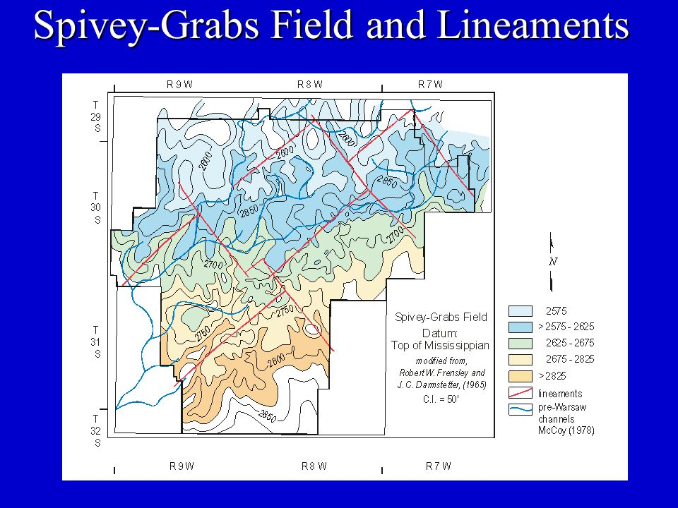 Spivey-Grabs Field and Lineaments