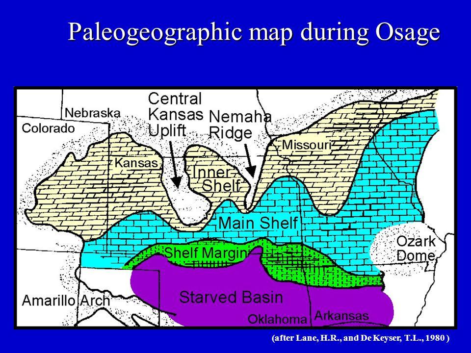 Paleogeographic map during Osage