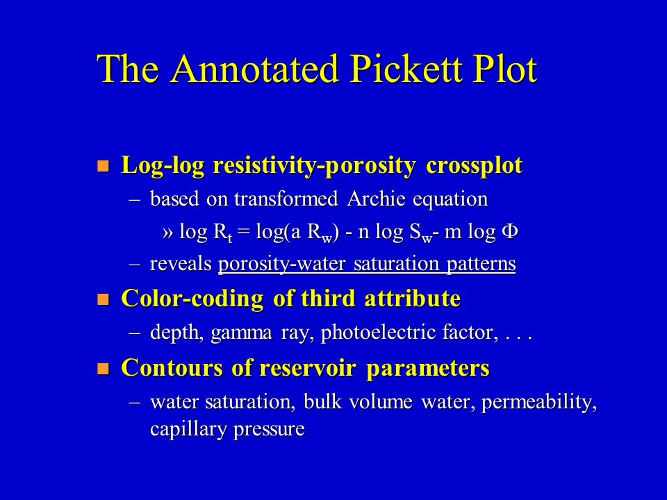 The Annotated Pickett Plot