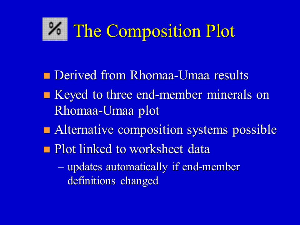 The Composition Plot Derived from Rhomaa-Umaa results