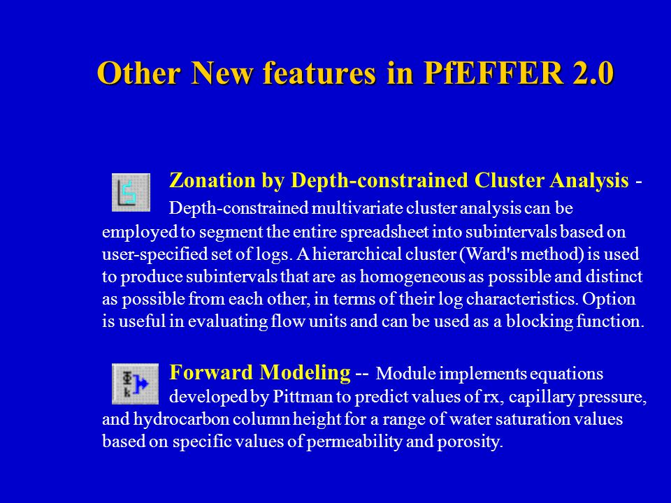 Other New features in PfEFFER 2.0