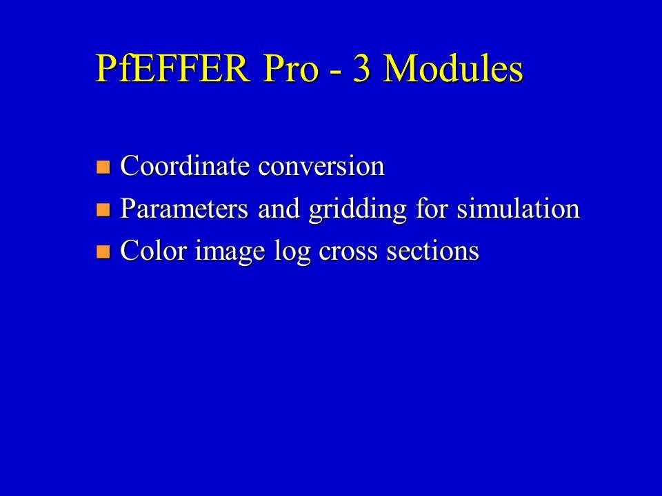 PfEFFER Pro - 3 Modules Coordinate conversion