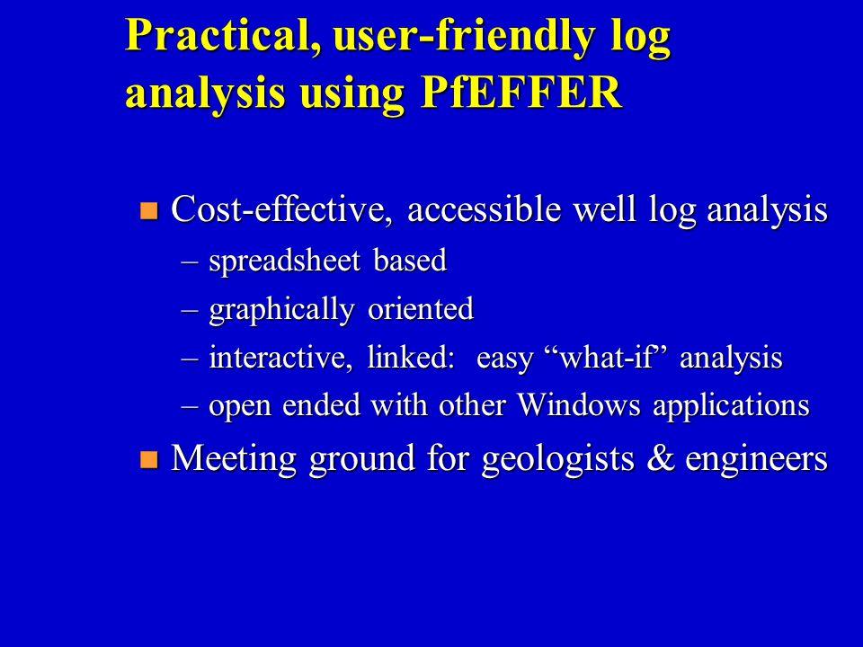 Practical, user-friendly log analysis using PfEFFER