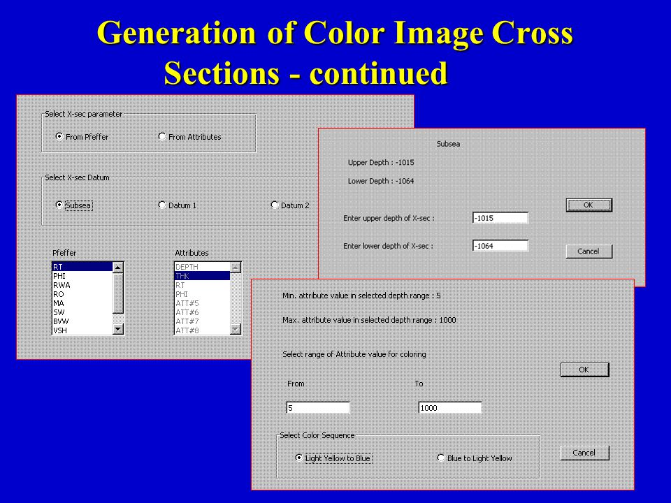 Generation of Color Image Cross Sections - continued