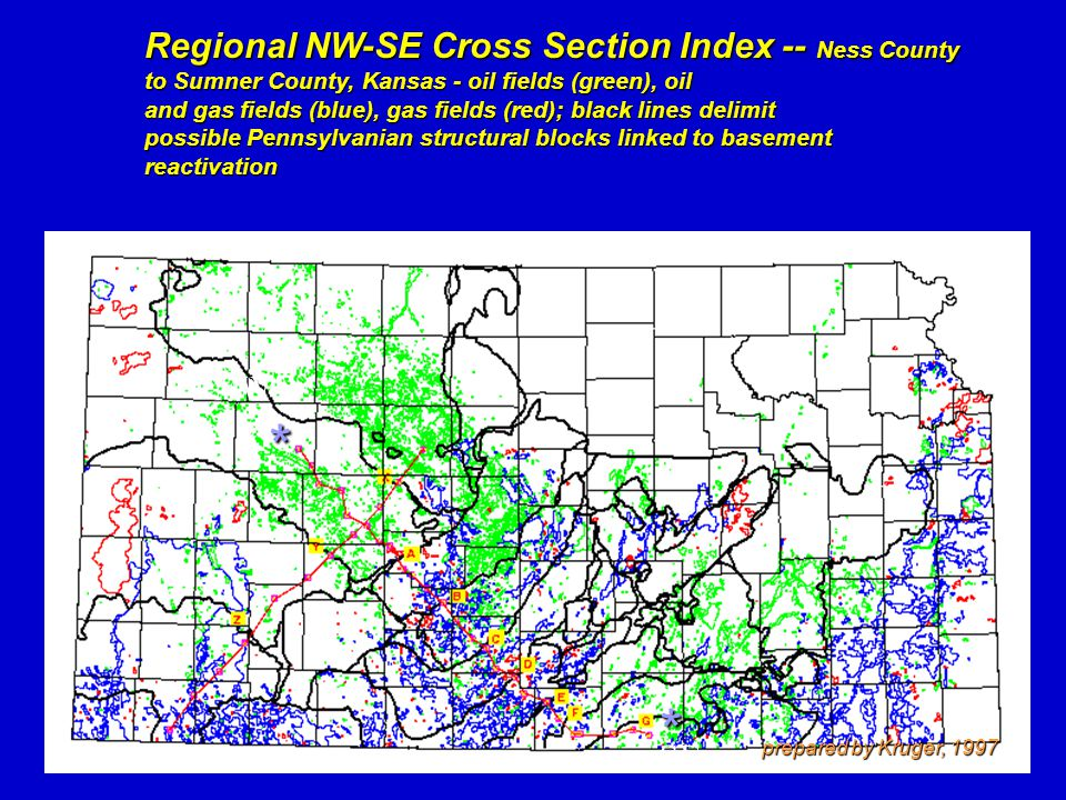 * * Regional NW-SE Cross Section Index -- Ness County NW SE