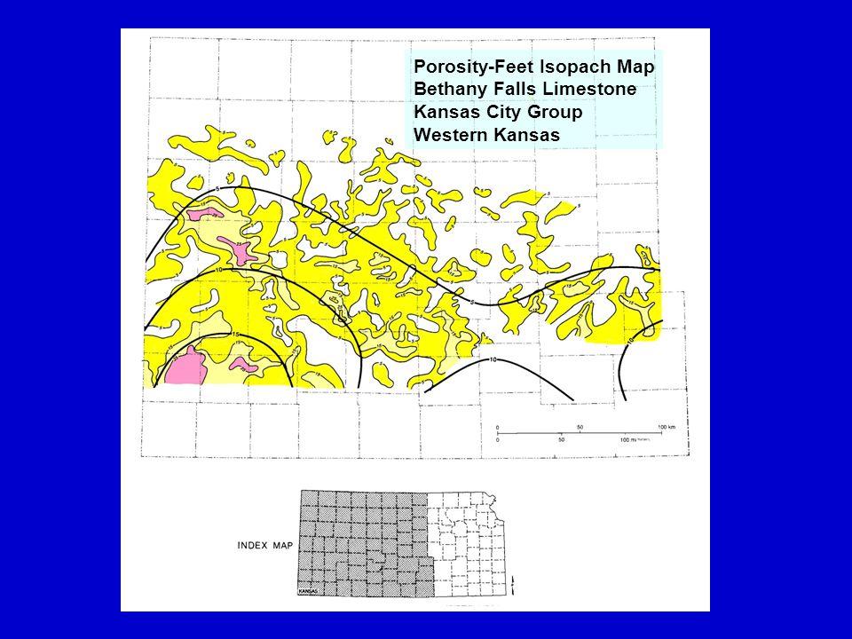 `100 mi Porosity-Feet Isopach Map Bethany Falls Limestone